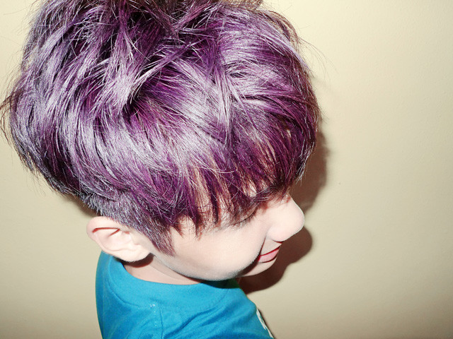 typicalben in purple hair colour