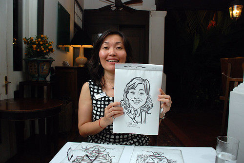 Caricature live sketching for Sycor 10th Anniversary Dinner -4