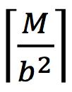 _M/b^2_
