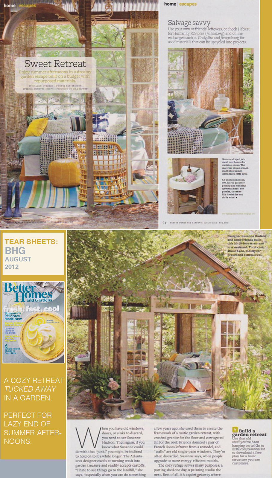 Tear Sheets Better Homes And Gardens August 2012
