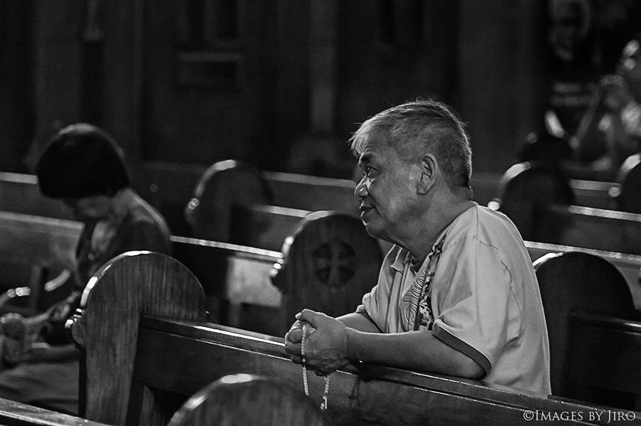 Praying Man... in B&W.
