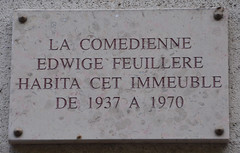 Photo of Edwige Feuillere marble plaque