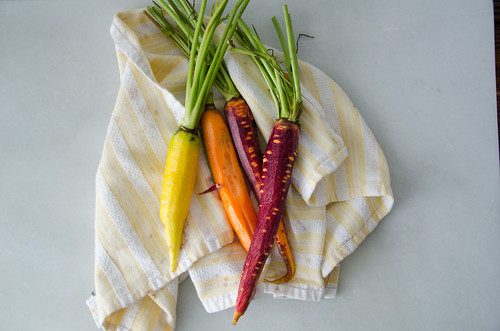colorful carrots from the market