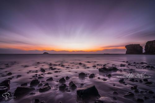 longexposure sunset newzealand beach dusk auckland northisland magichour muriwai bethellsbeach motutarabeach