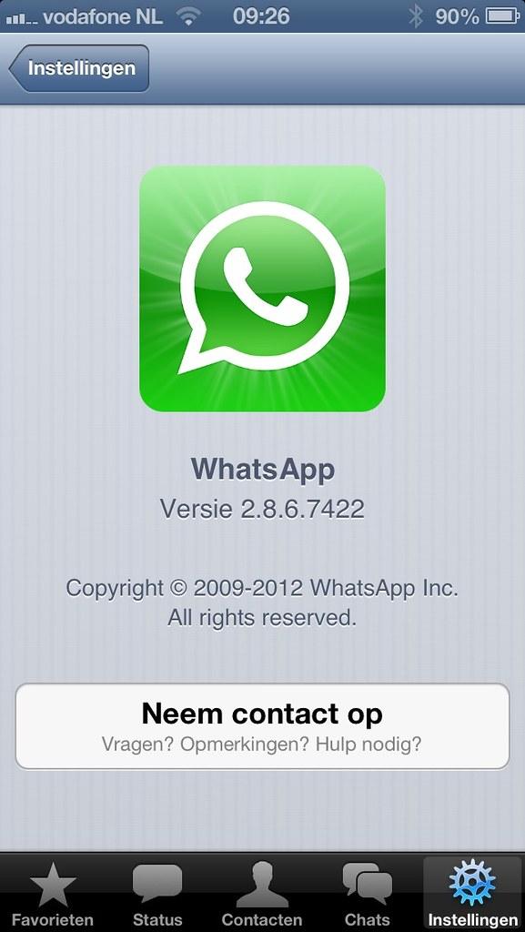 WhatsApp 2.8.6.7422 beta