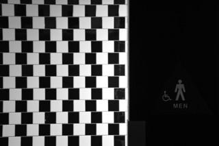 Arte abstracto en el baño