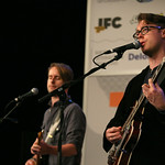 Fri, 14/03/2014 - 4:38pm - Jeremy Messersmith and band at the Public Radio Rocks Day Stage, March 14, 2014. Photo by Laura Fedele