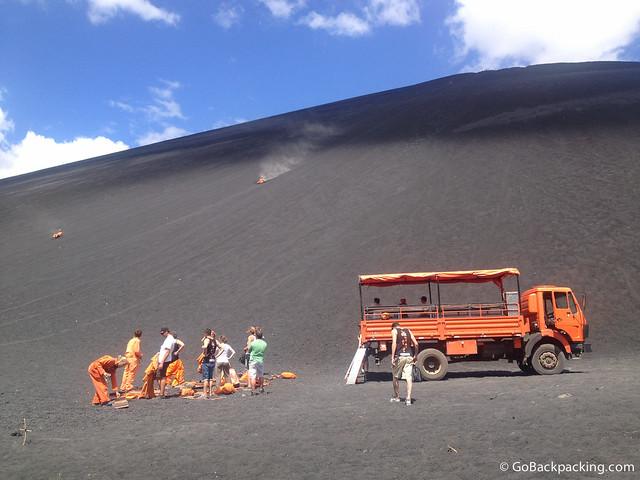 Volcanoboarding at Cerro Negro