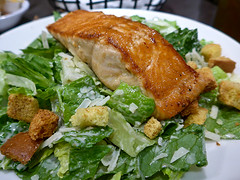 photo - Salmon Caesar salad, Buttercup Restaurant