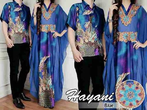 Kemeja Dress Gamis Batik Couple Hayani