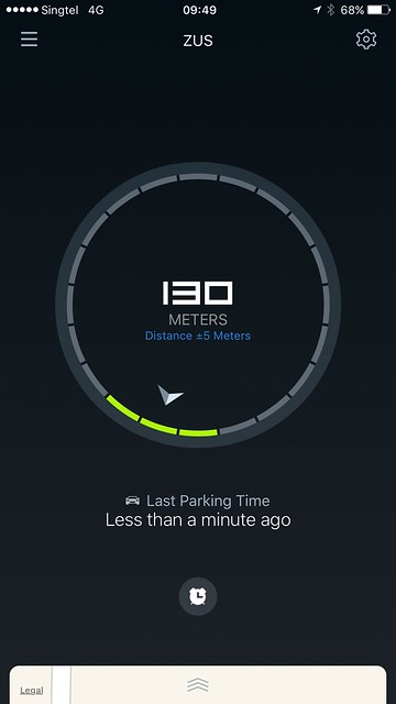 ZUS iOS App - Distance