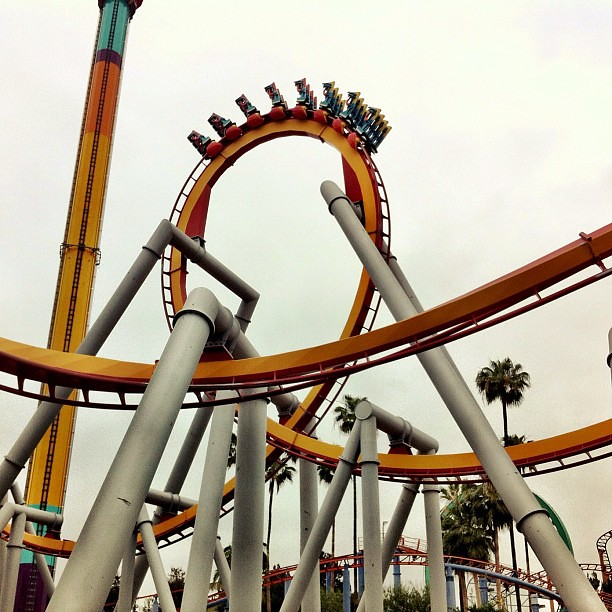 The Silver Bullet @Knotts. The longest inverted coaster on the west coast. #knottsphotos