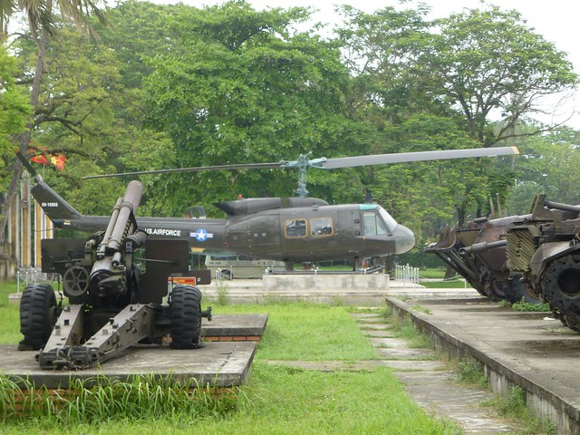 Old US Airforce helicopter still in Hue's old city