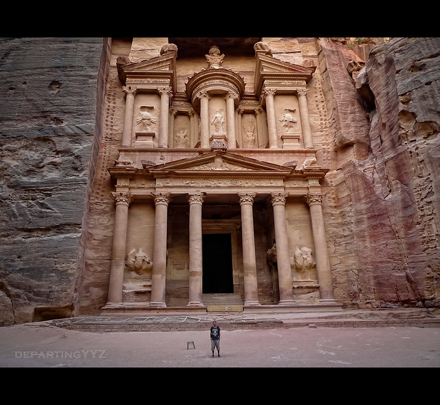 Size Comparison with the Ancient Treasury of Petra (Jordan)