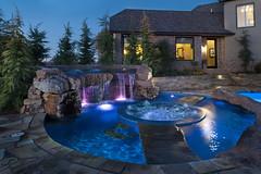 luxury swimming pool photo