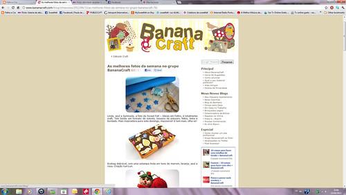Surpresa boa!!! Destaque no Banana Craft :)))) by sweetfelt \ ideias em feltro