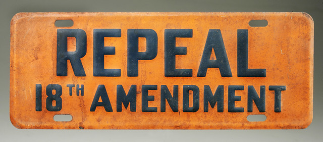 an analysis of the repeal of the eighteenth amendment in the united states The second amendment to the constitution states:  in the past with the repeal of the eighteenth amendment (prohibition) in the twenty-first amendment, i don't think this is going to happen.