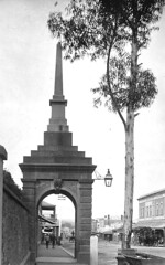 McKinlay Monument, Murray street, Gawler. Date unknown but after 16jun1899 [see Bunyip Trove re Council's installation of lamp].