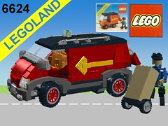 Lego City Delivery Van - Nr. 6624 Recreated in Miniland Scale