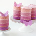 Purple Ombre Butterfly Cakes by Glorious Treats