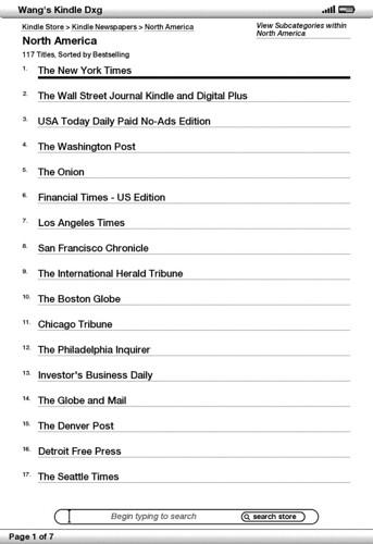 如何订阅Kindle版《纽约时报》
