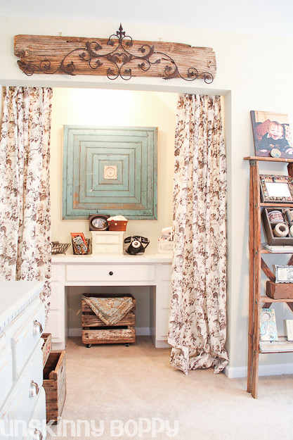 desk niche with pottery barn style