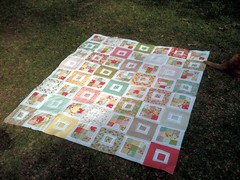 Strawberry Fields quilt top!