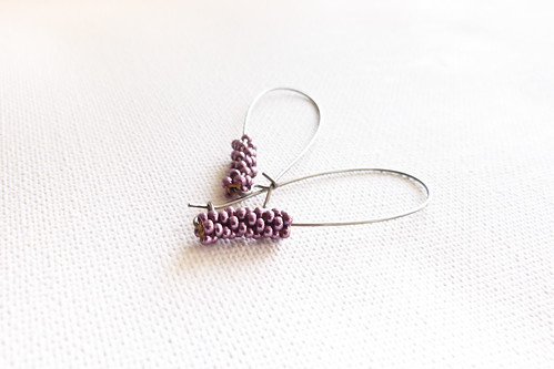 Eggplant chic minimalist earrings