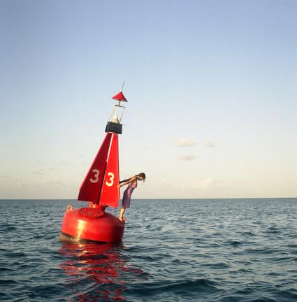 Cig Harvey, The Channel Marker, Self-Portrait, Eastern Shipping Lanes, Bermuda, 2004