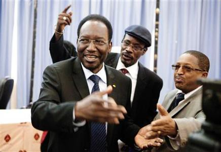 Mali Interim President Dioncounda Traore after being sworn-in as the leader of the beleagured West African state. The Tuareg have declared independence in the north of the country. by Pan-African News Wire File Photos