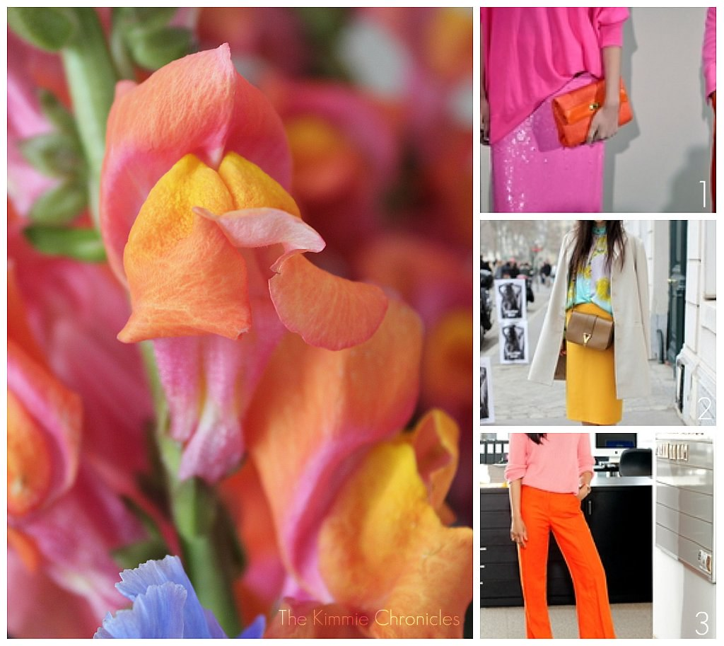 Pink and Orange Collage