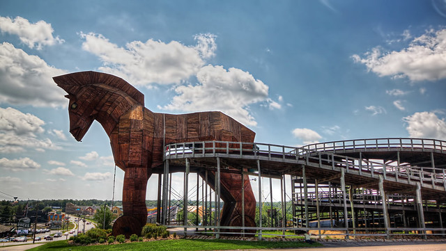 Trojan Horse At The Mt Olympus Theme Park Wisconsin Dells