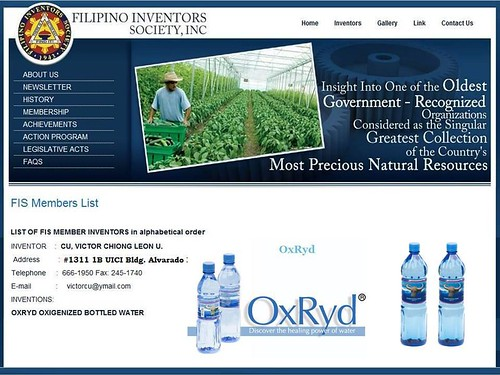 OxRyd Water by Filipino Inventors