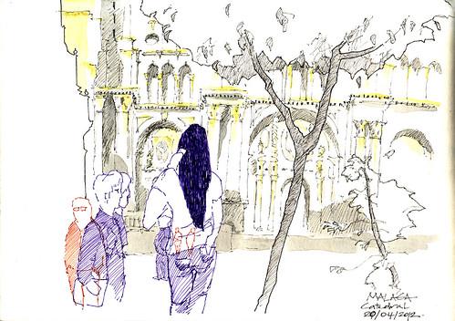 Malaga Sketchcrawl-Catedral