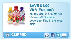 V8 V-fusion Smoothie Coupon