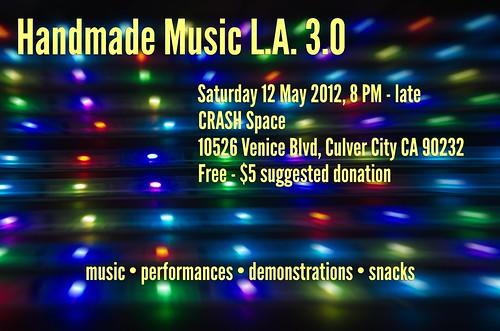 Handmade Music L.A. 3.0 Poster