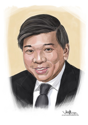 digital portrait illustration of a businessman