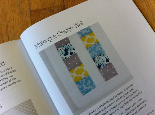 making a design wall from Modern Patchwork