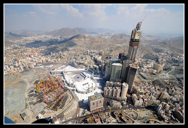 The Kaaba at al-Haram Mosque  in Mecca - Date 17 November 2010, 13:11