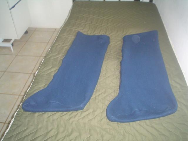 Perneiras de Soft para aquecer pés e pernas