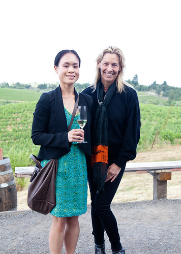 CEO of Iron Horse Vineyards, Joy Sterling and I