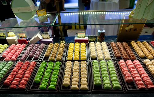 Rainbow of Ladurée macarons