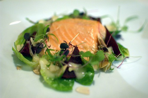 Green tea smoked ocean trout