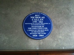 Photo of Nicholas Callan blue plaque