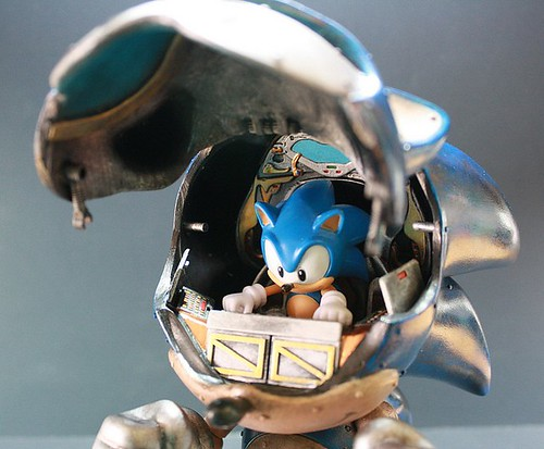 Mecha Sonic Custom by kodykoala