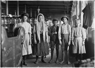 Spinners and doffers in Lancaster Cotton Mills. Dozens of them in this mill, December 1908