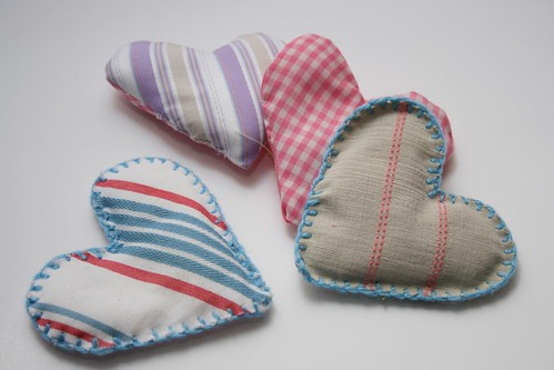 Sewing Crafts - hearts - creative textiles - textiles work