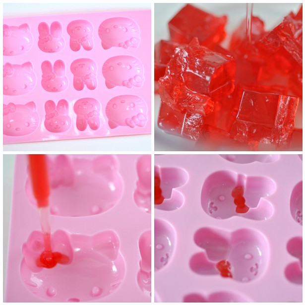 Making Hello Kitty candy