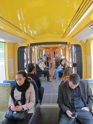 Interior Citadis T2 tramway Paris