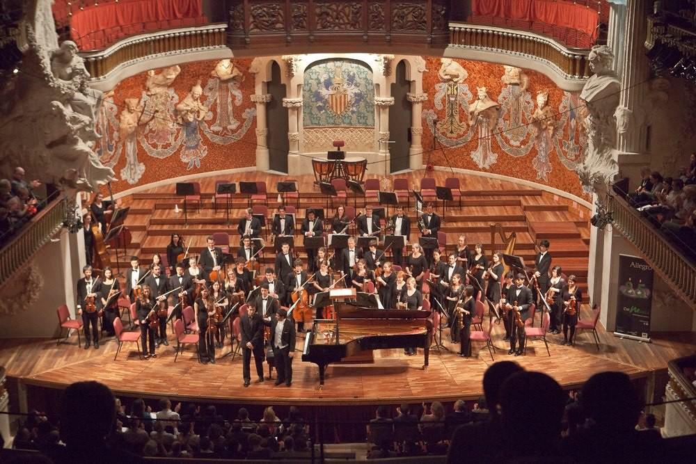 UC Davis Orchestra in the Palau de la Musica Catalana in Barcelona, Spain